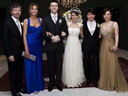 Zeca, lorena, Lucas, Sandy, Xororó e Noely