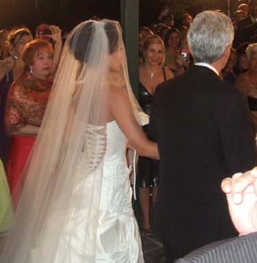 detalhe das costas do vestido