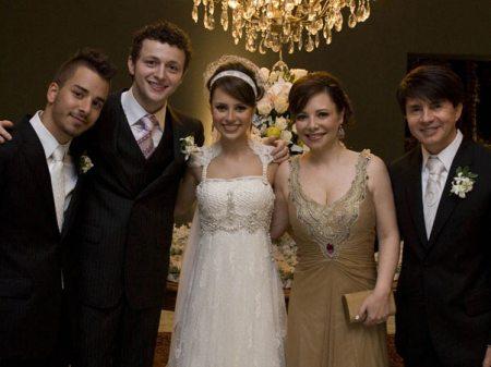 Junior, os noivos, Noely e Xororó