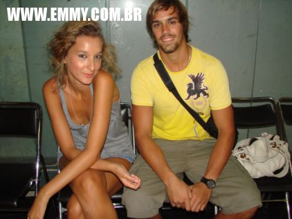 a modelo Elisa Bedin e Arthur Mutz