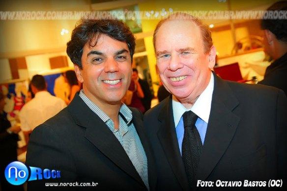 o estilista Ivan Aguilar e Gregory Fink